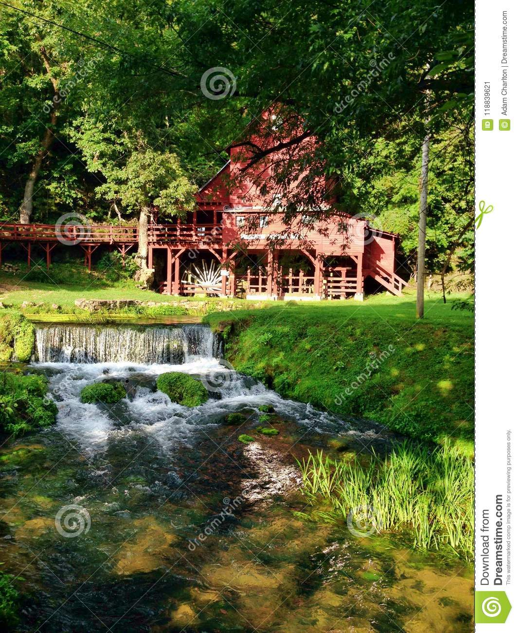 Red water mill in missouri