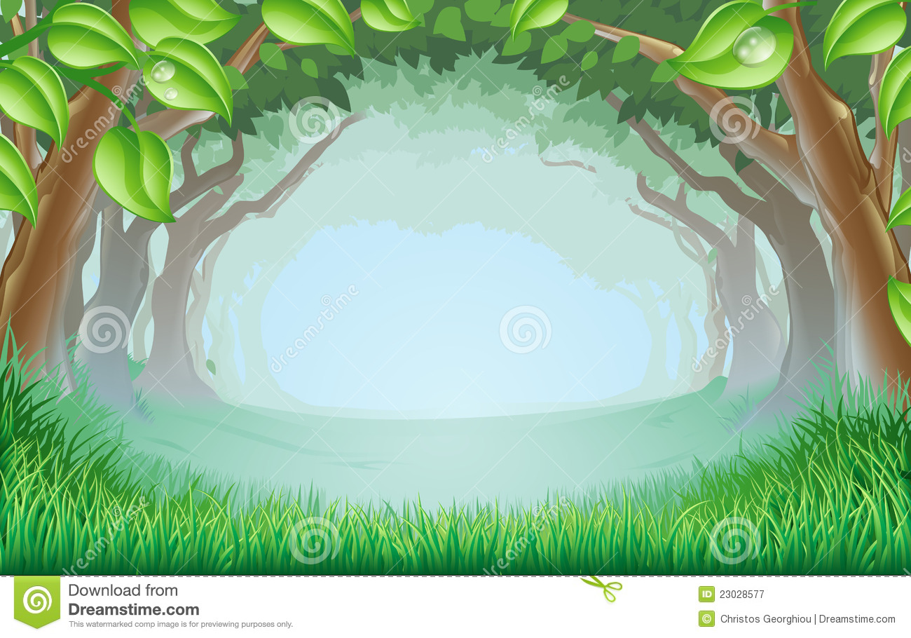 Download Beautiful woodland scene stock vector. Illustration of forest - 23028577
