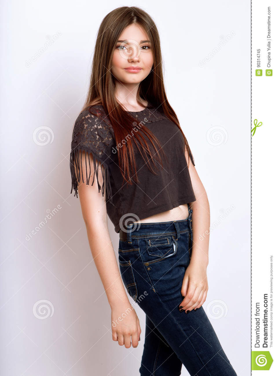 A Beautiful 13-years Old Girl Stock Image