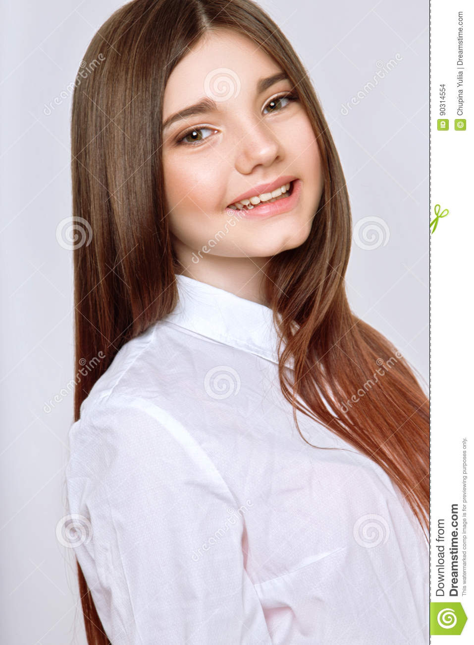 A Beautiful 13-years Old Girl Stock Photo
