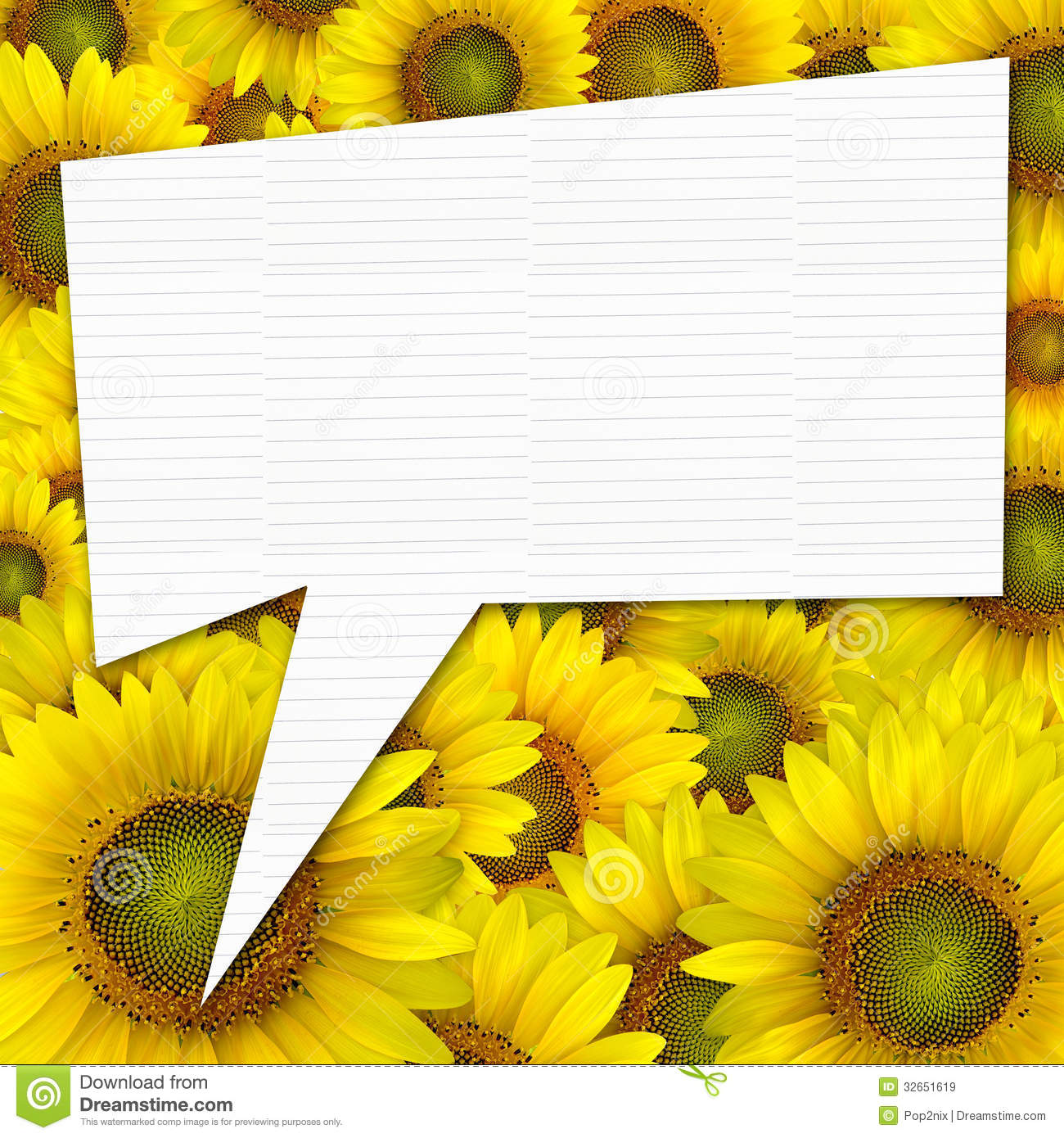 Beautiful Yellow Sunflower Petals Closeup Background With Quote