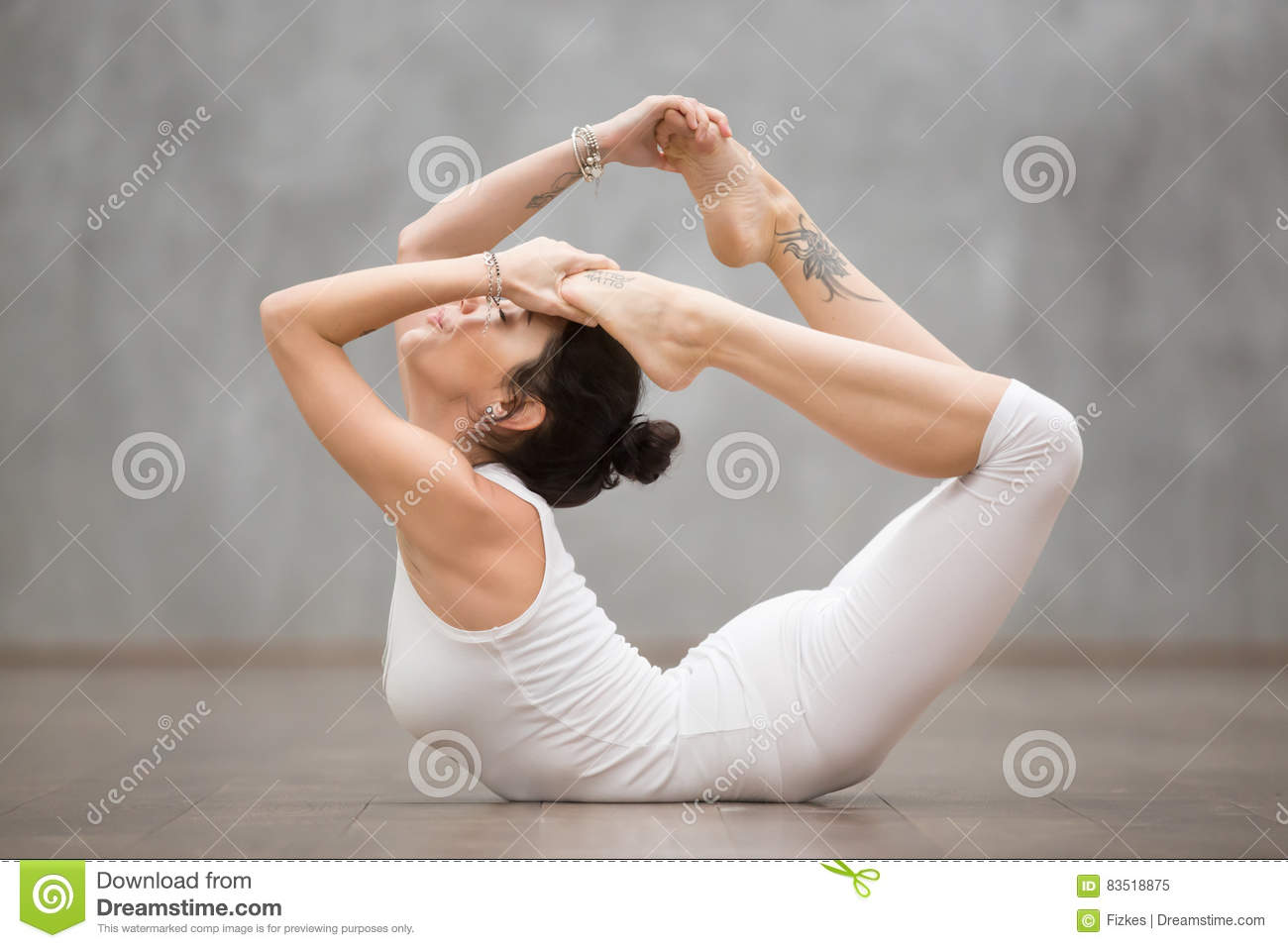 Beautiful Yoga Bow Pose Stock Image Image Of Easy Interior 83518875