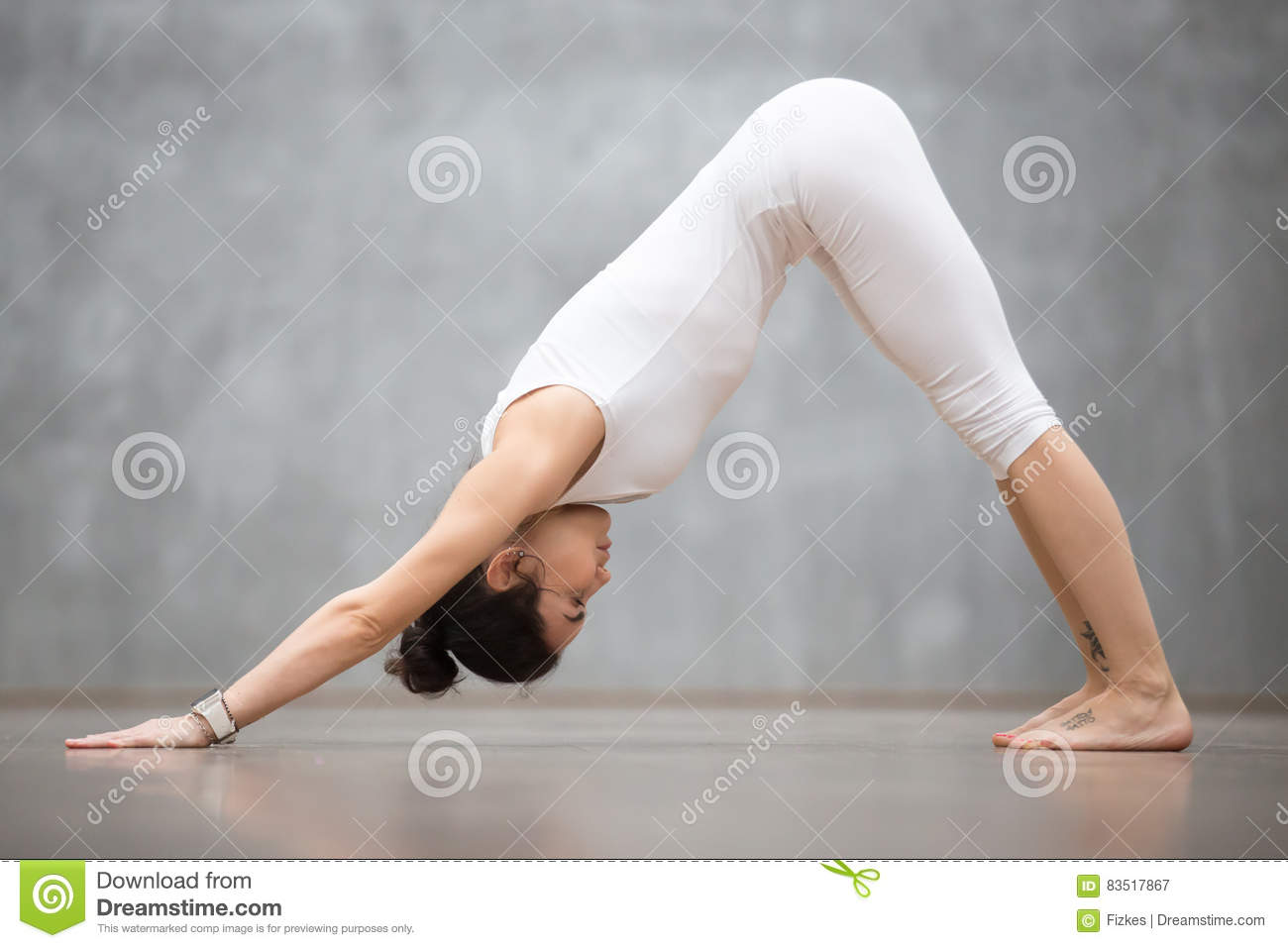 Beautiful Yoga Downward Facing Dog Pose Stock Image Image Of Muscle Club 83517867