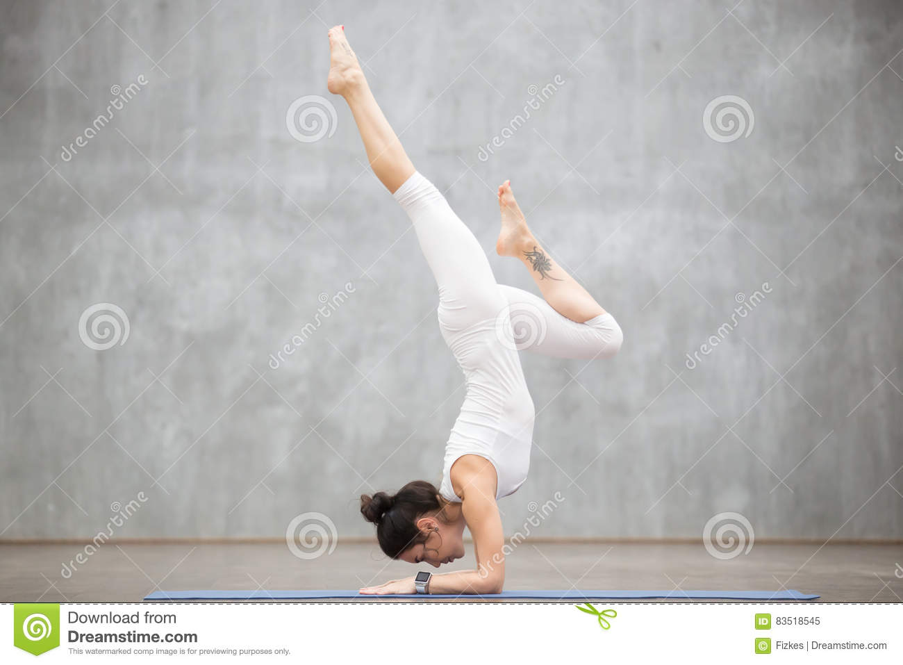 Beautiful Yoga Feathered Peacock Pose Stock Image Image Of Handstand Balance 83518545
