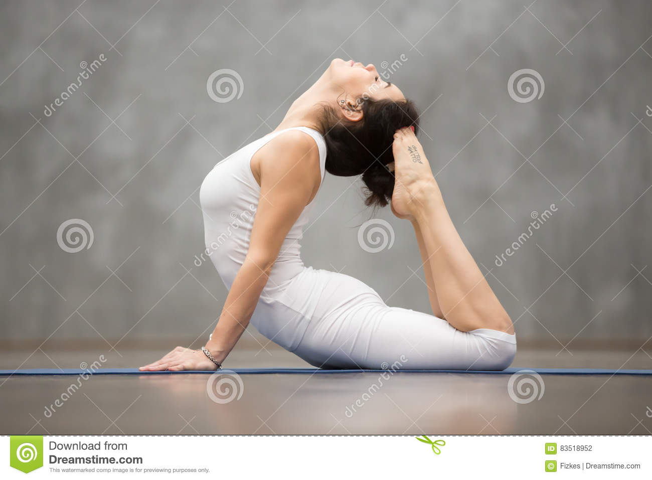 Beautiful Yoga Royal Cobra Pose Stock Photo Image Of Background Gymnastics 83518952