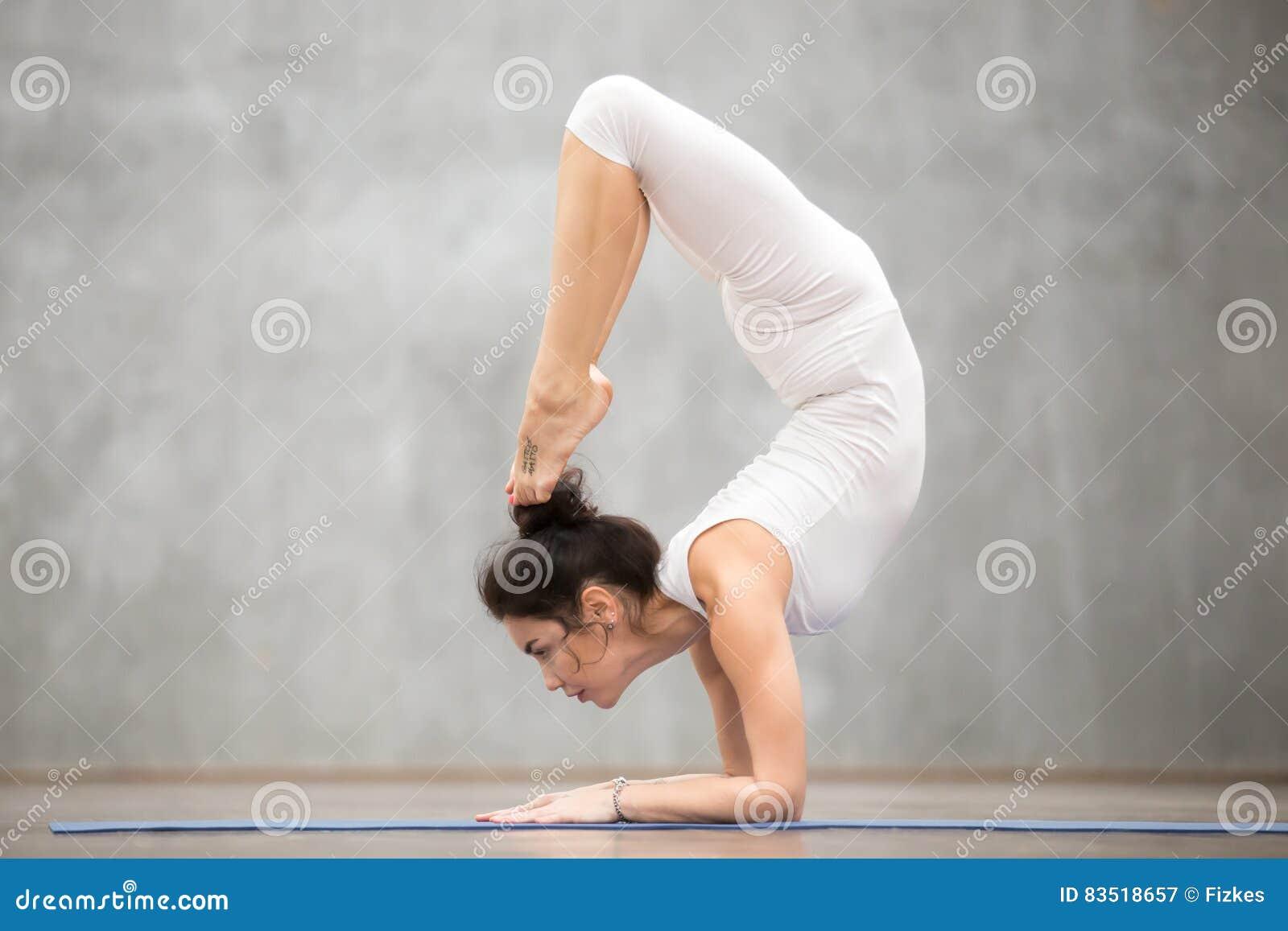 f7f31a8ab62e0 Beautiful Yoga: Scorpion Pose Stock Image - Image of dancer, indoors ...