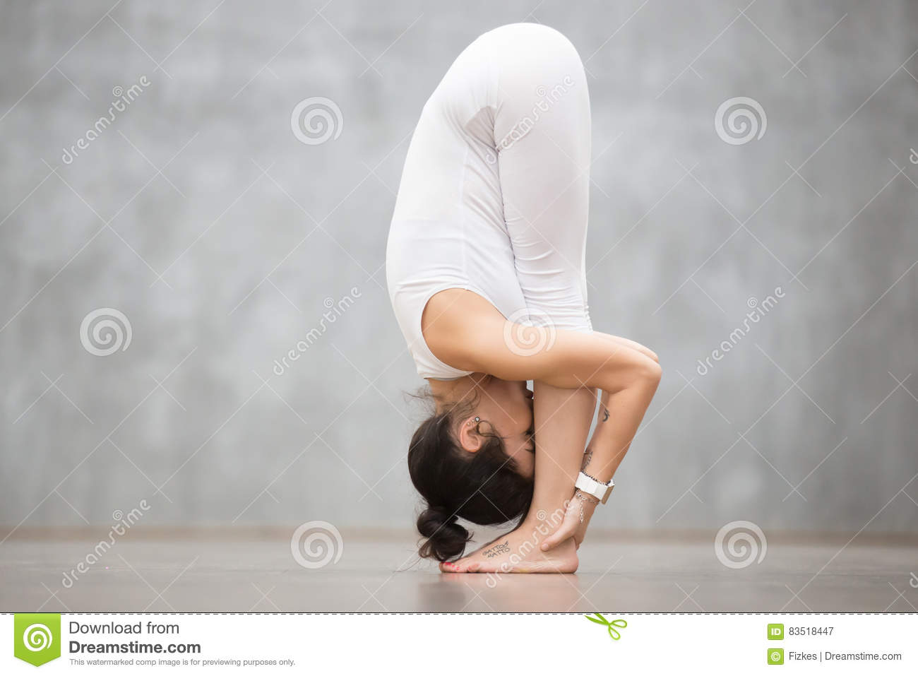 Beautiful Yoga Standing Forward Bend Pose Stock Image Image Of Loft Pose 83518447