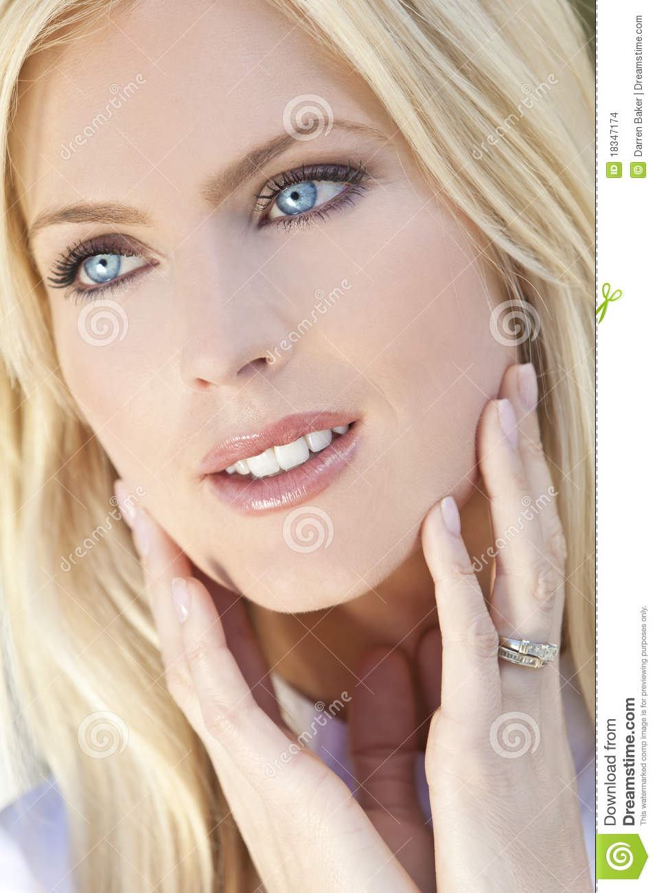 More similar stock images of ` Beautiful Young Blond Woman With Blue ...