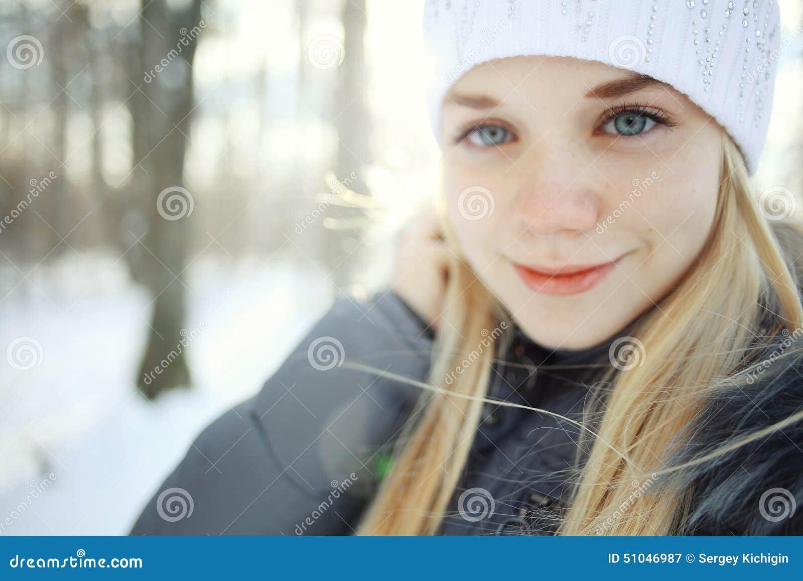 Beautiful young blonde teen girls
