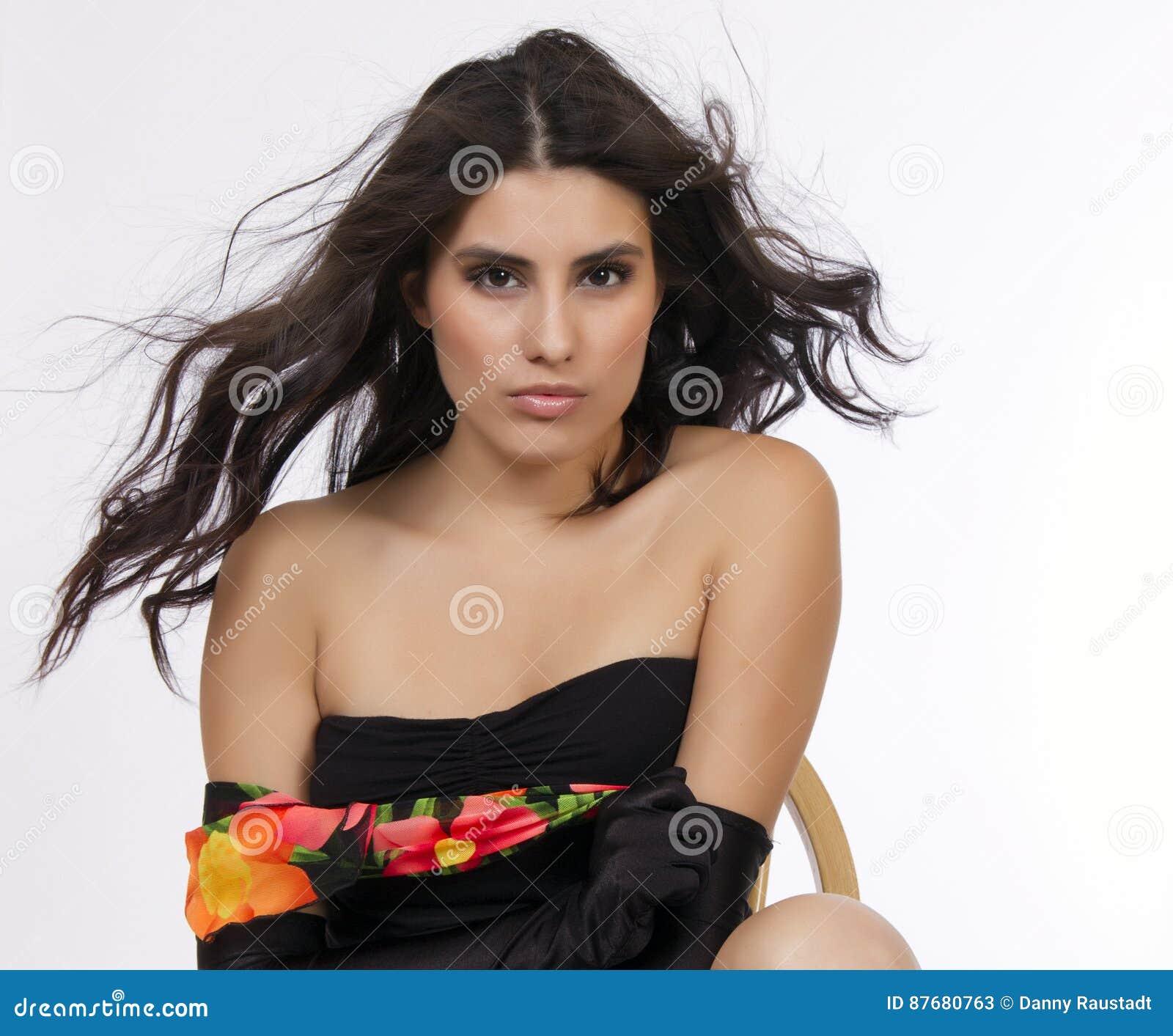 Beautiful Young Brunette Hispanic Woman