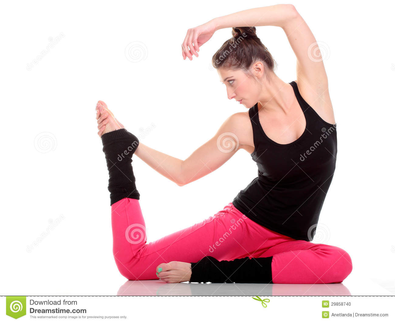 brunettes stretch