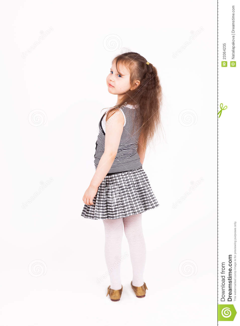 beautiful young child girl standing stock image image
