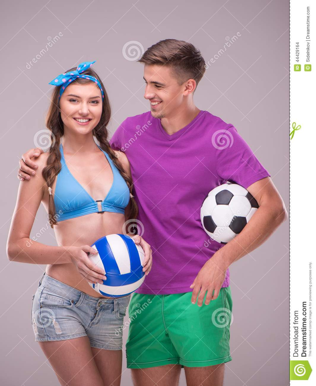 Women playing with mens balls