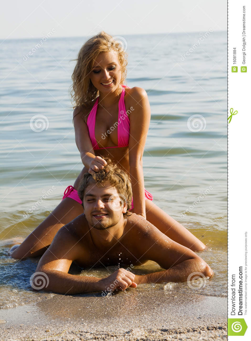 Beautiful young couple on the seaside