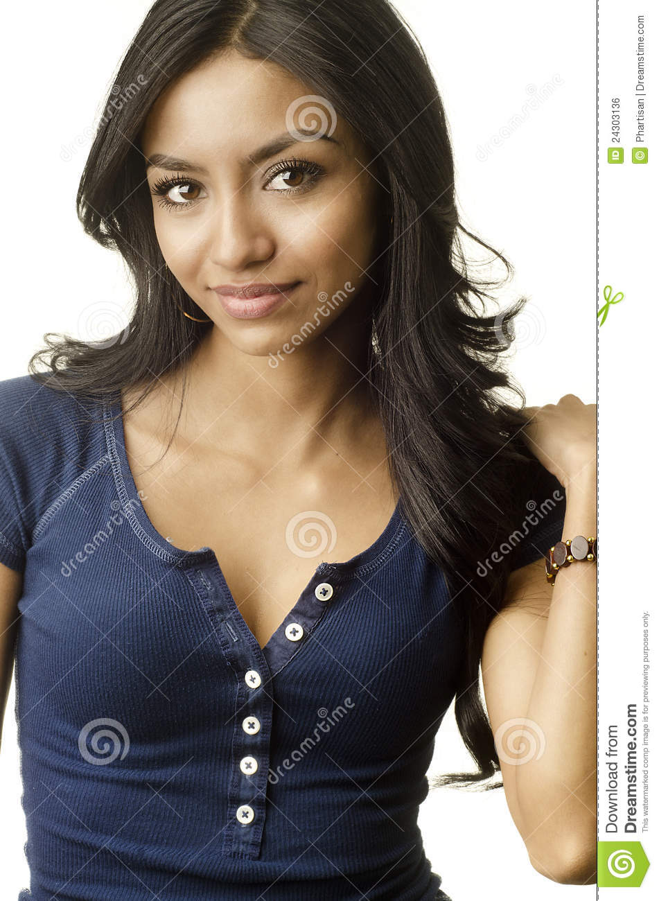 Beautiful Young Exotic Womans Facr Royalty Free Stock Image - Image: 24303136