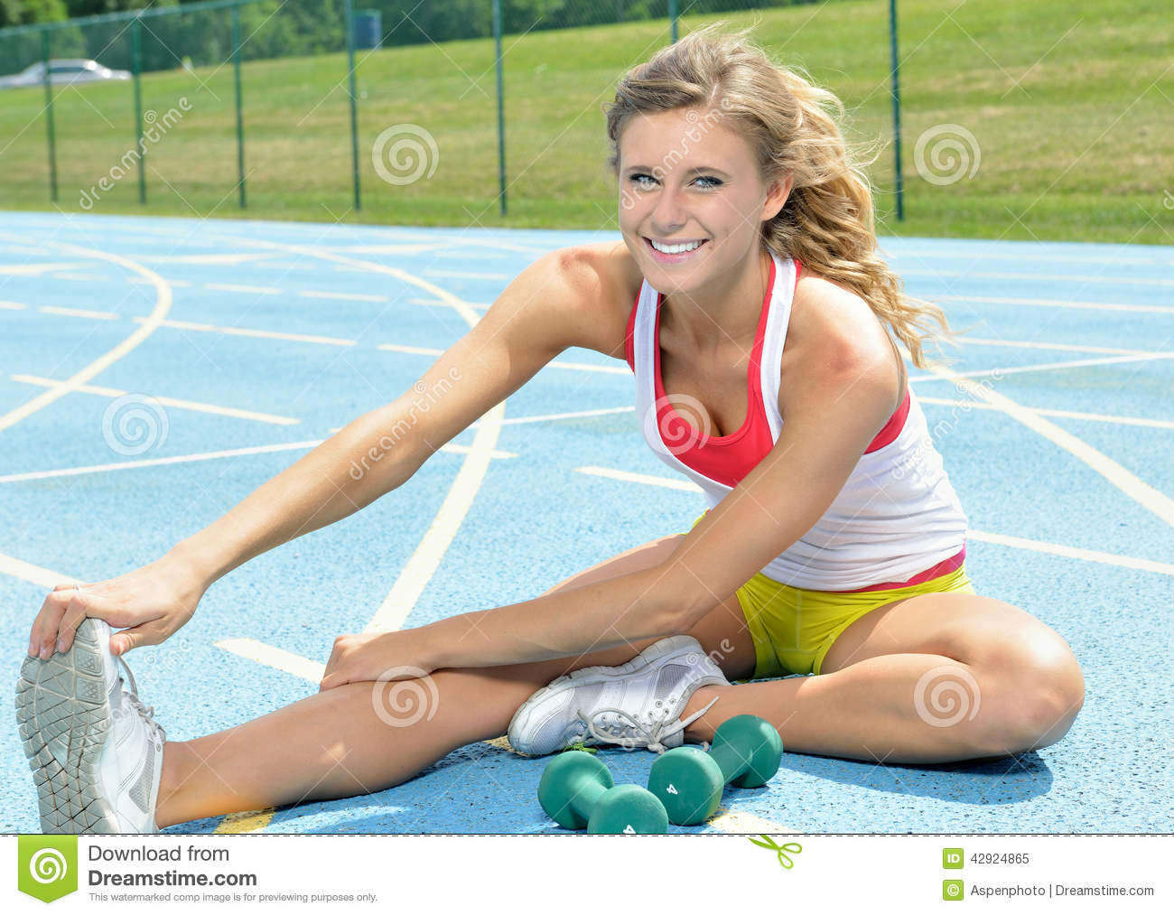 imgchili young  Beautiful Young Female Fitness Model (stretching) Stock ...