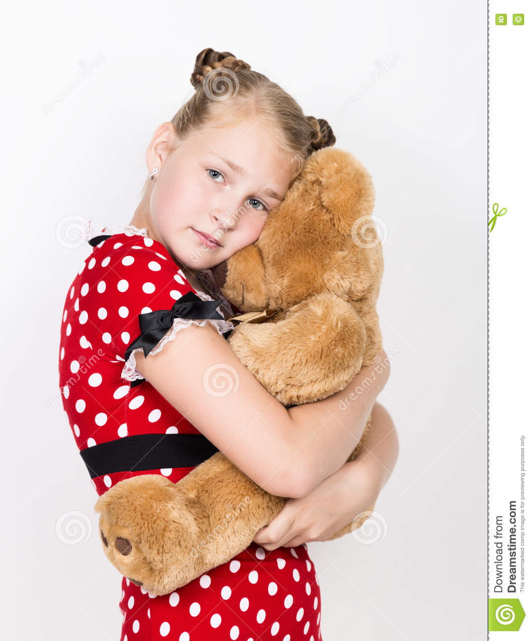 Beautiful Young Girl Holding A Teddy Bear In The ...Little Girl With Teddy Bear Black And White