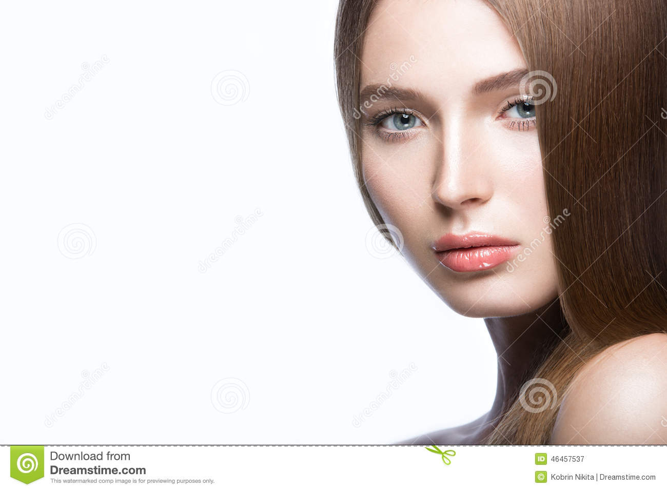 Beautiful Young Girl With A Light Natural Make Up Beauty Face Stock Photo Image 46457537