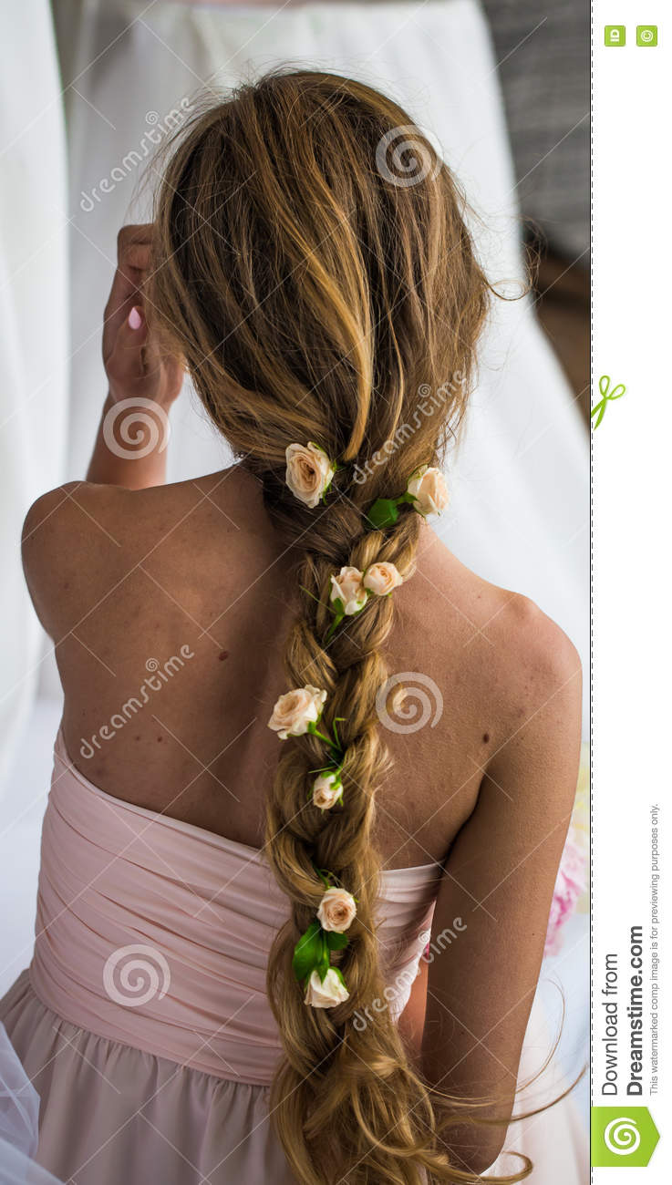 Beautiful young girl with long hair flowers the tenderness of the royalty free stock photo download beautiful young girl with long hair flowers the tenderness izmirmasajfo
