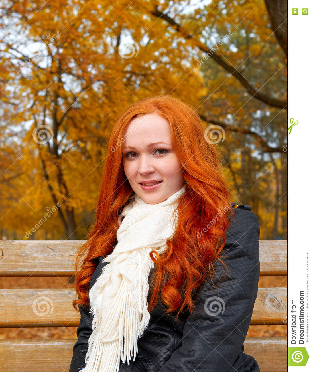 Apologise, redhead on bench