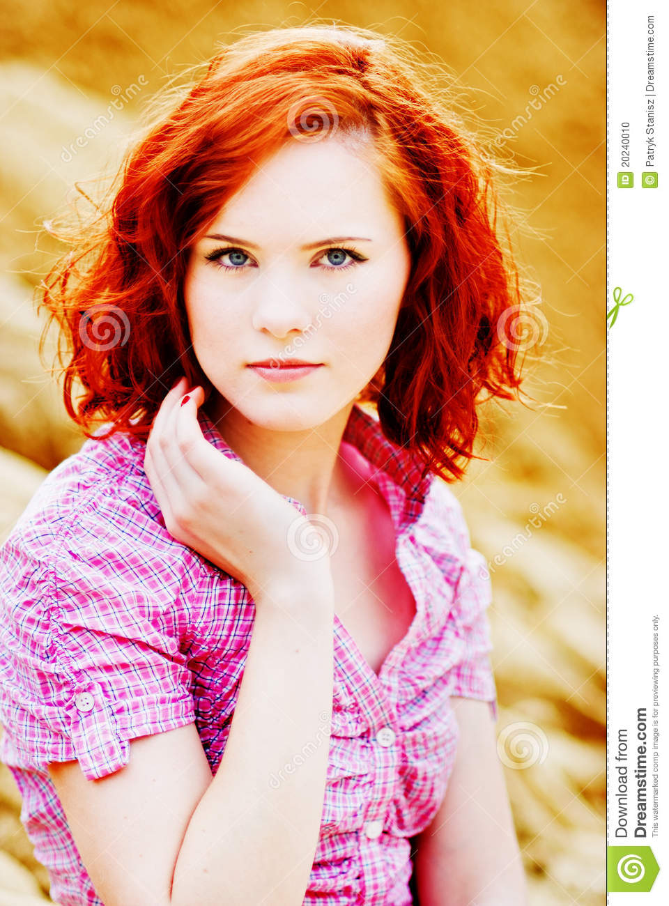 young girl with red hair stock photo image of forest beautiful young girl with red hair stock photo image
