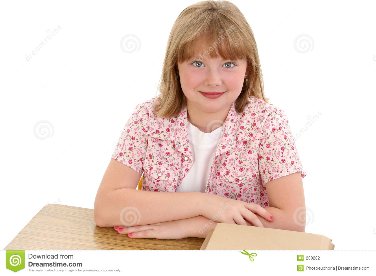 Beautiful young girl sitting at school desk stock photo image of child cute 208282 - Desk girl image in ...