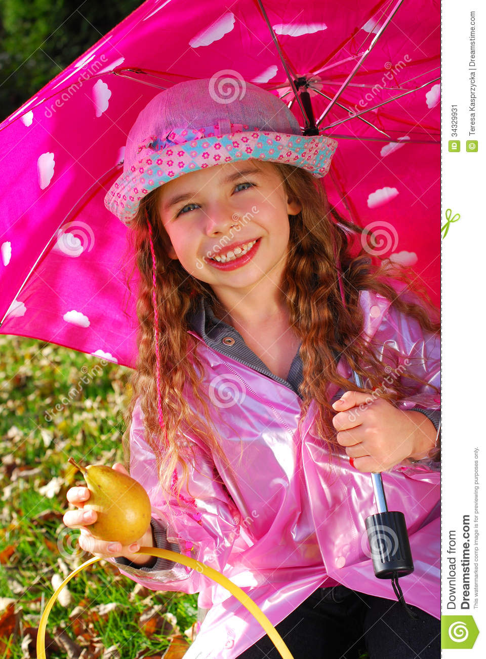 Girl With The Blog: Beautiful Young Girl With Umbrella Stock Image