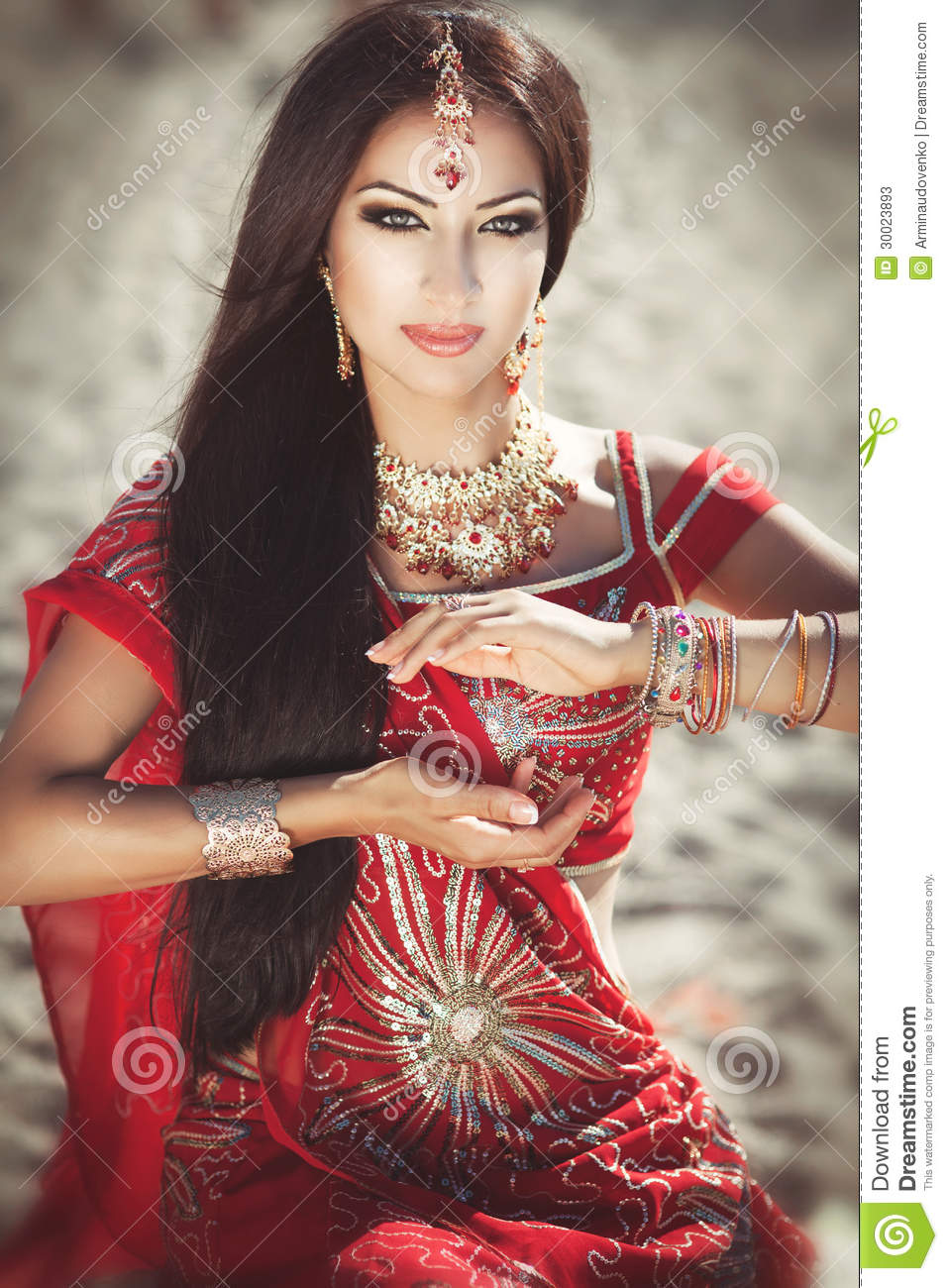 Beautiful Indian Girls: Beautiful Indian Woman Bellydancer. Arabian Bride Stock