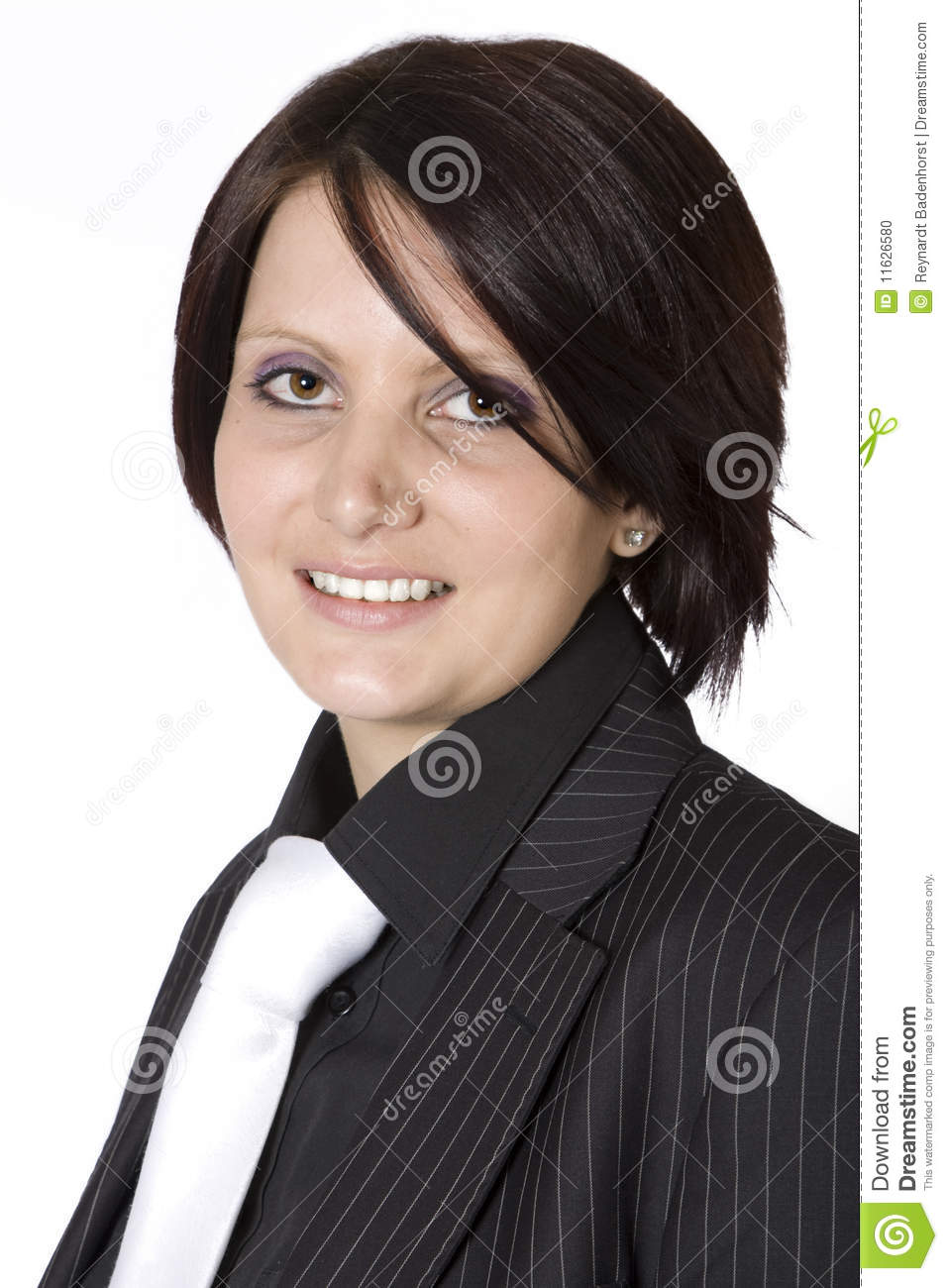 Download Beautiful Young Professional Woman With Black Suit Stock Photo - Image of people, beautiful: 11626580