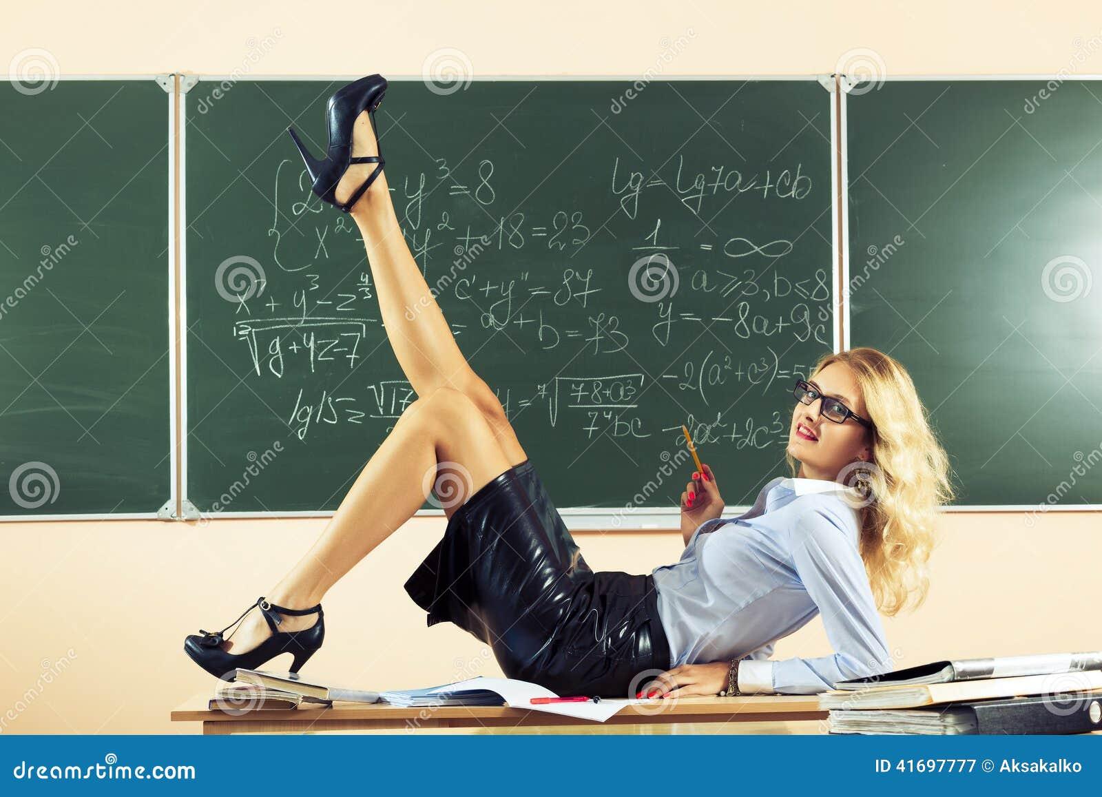 Beautiful young teacher