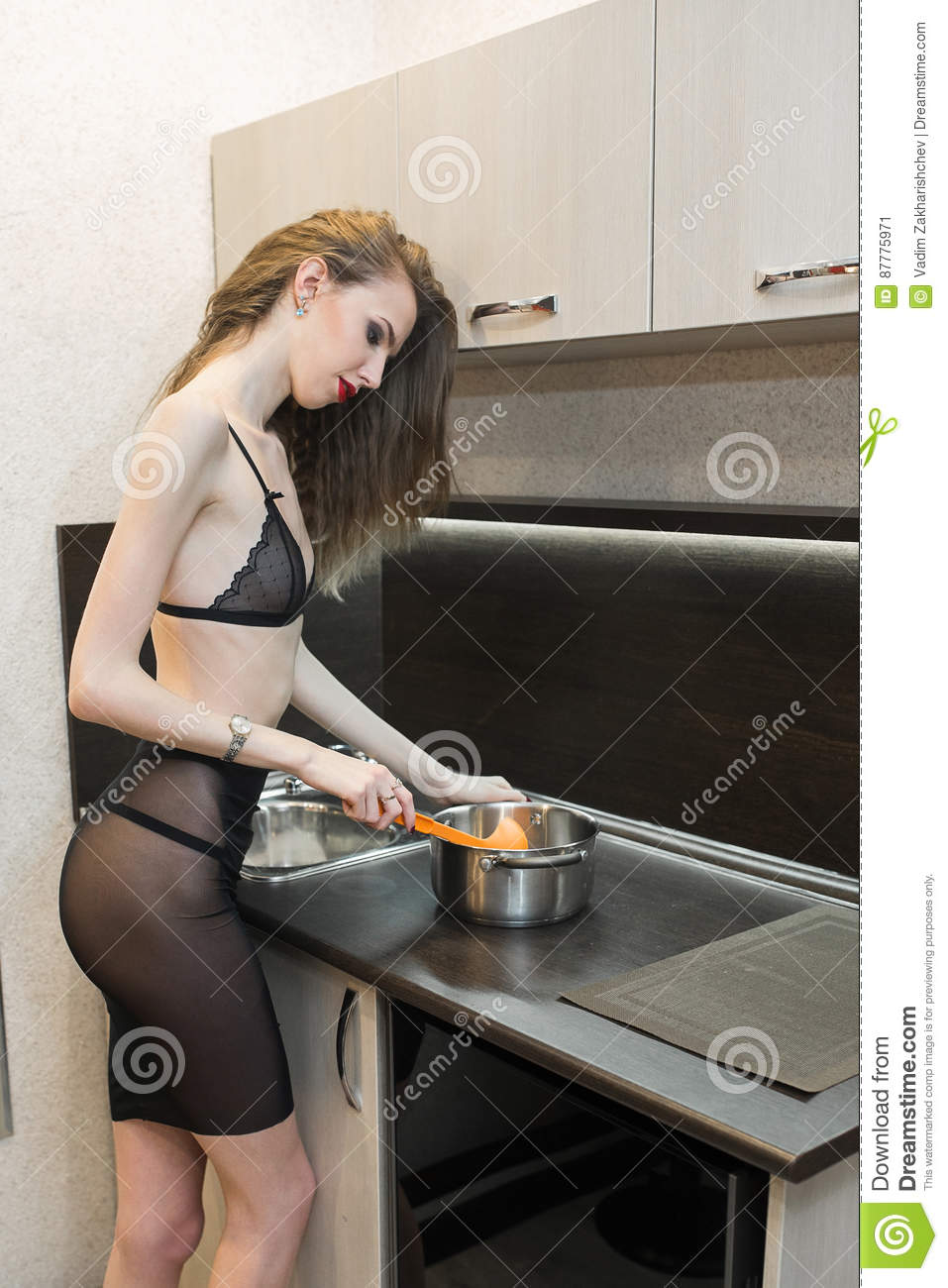 That interestingly Sexy cooking in lingerie think, that