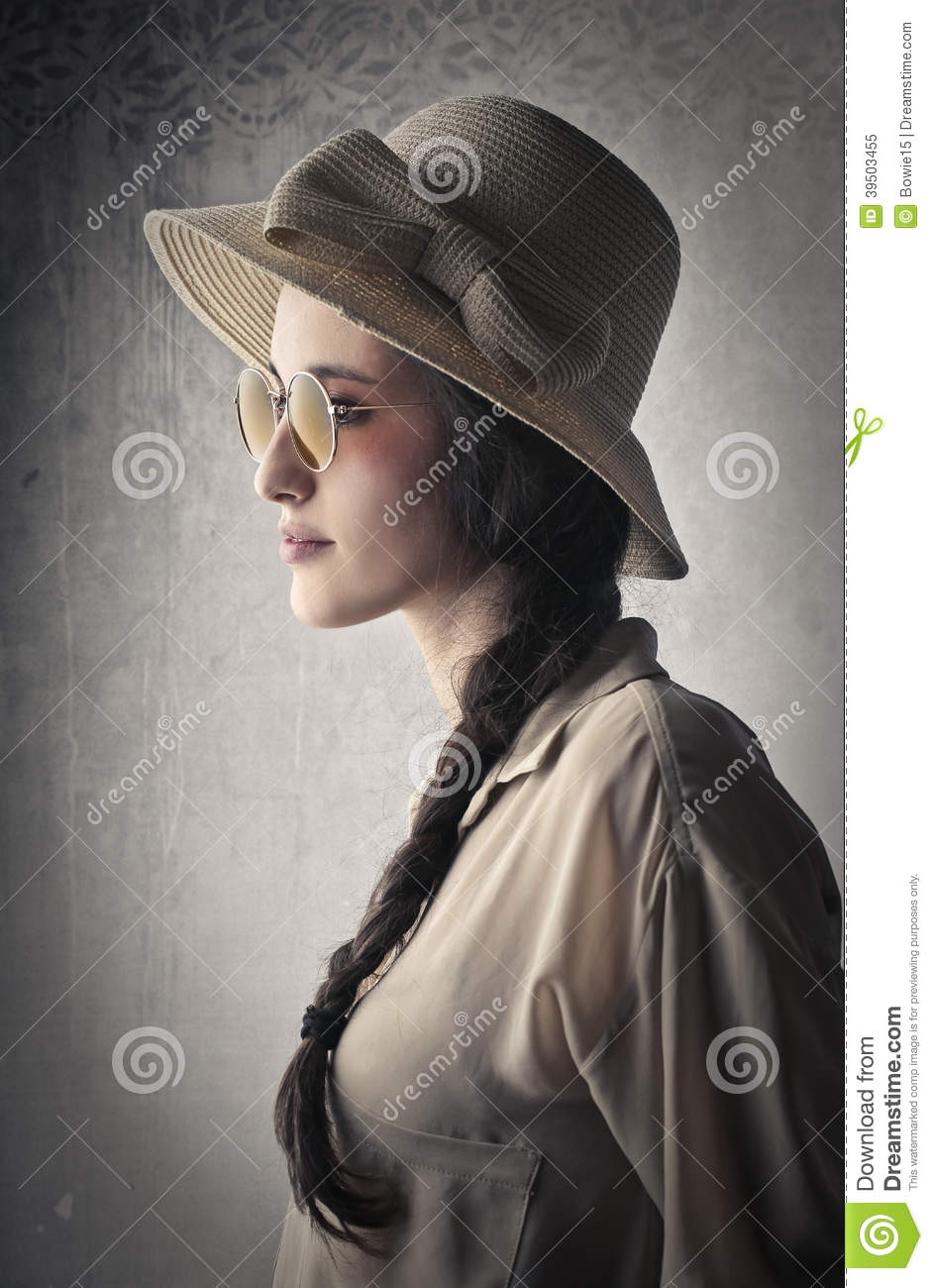 Beautiful young vintage woman