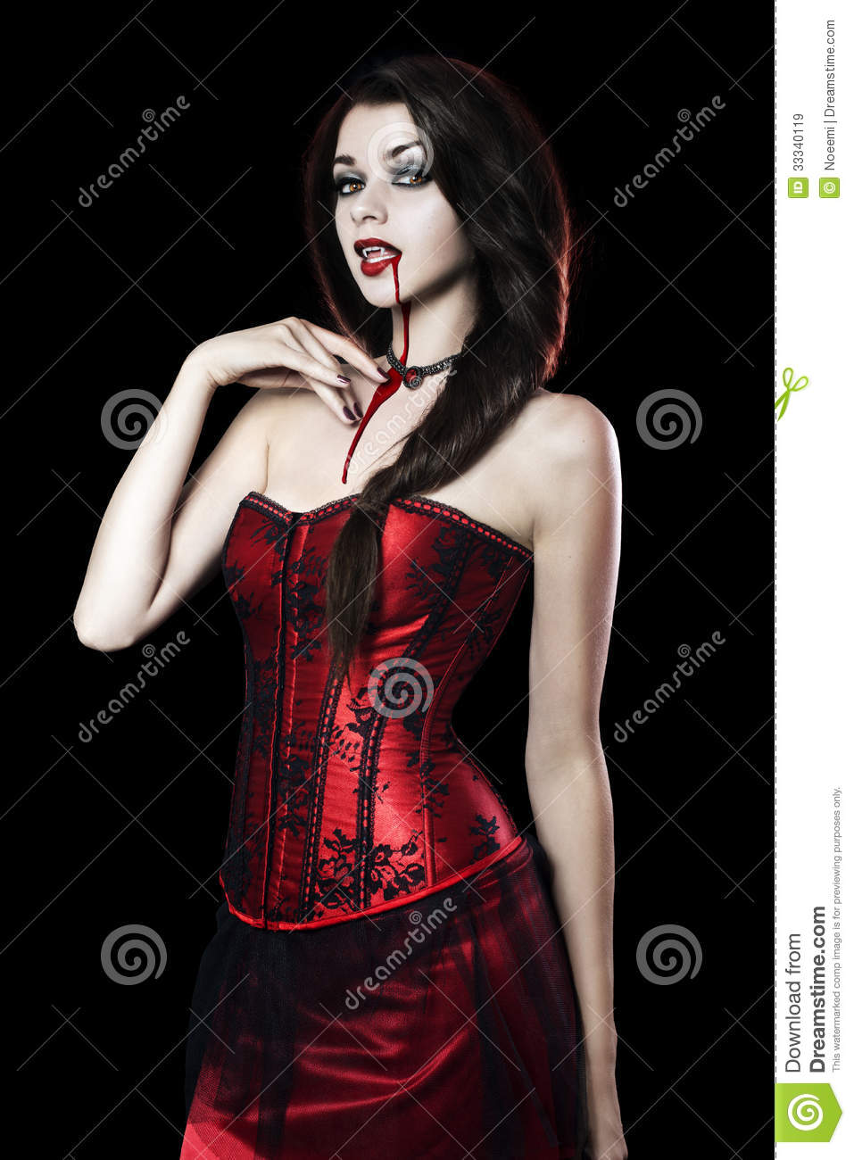 Beautiful Young woman as vampire