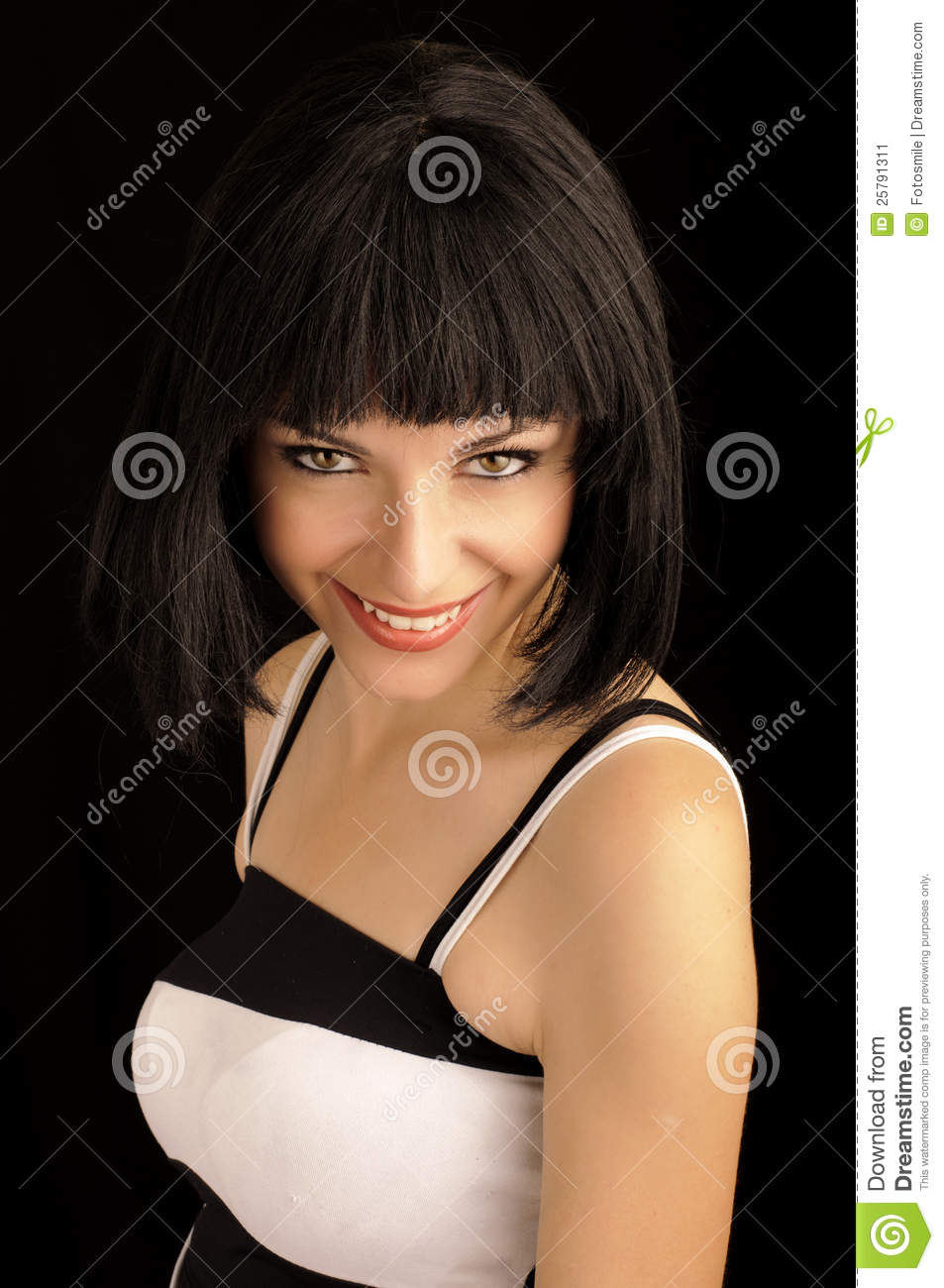 Beautiful Young Woman With Bob Hairstyle Stock Image - Image: 25791311