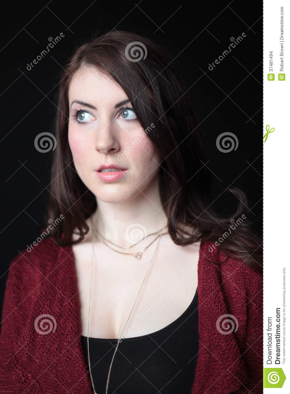 Women with Brown Hair and Blue Eyes