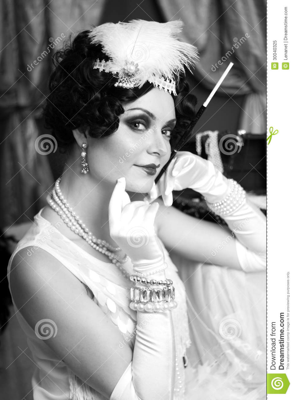 Retro Flapper Style Royalty Free Stock Photo