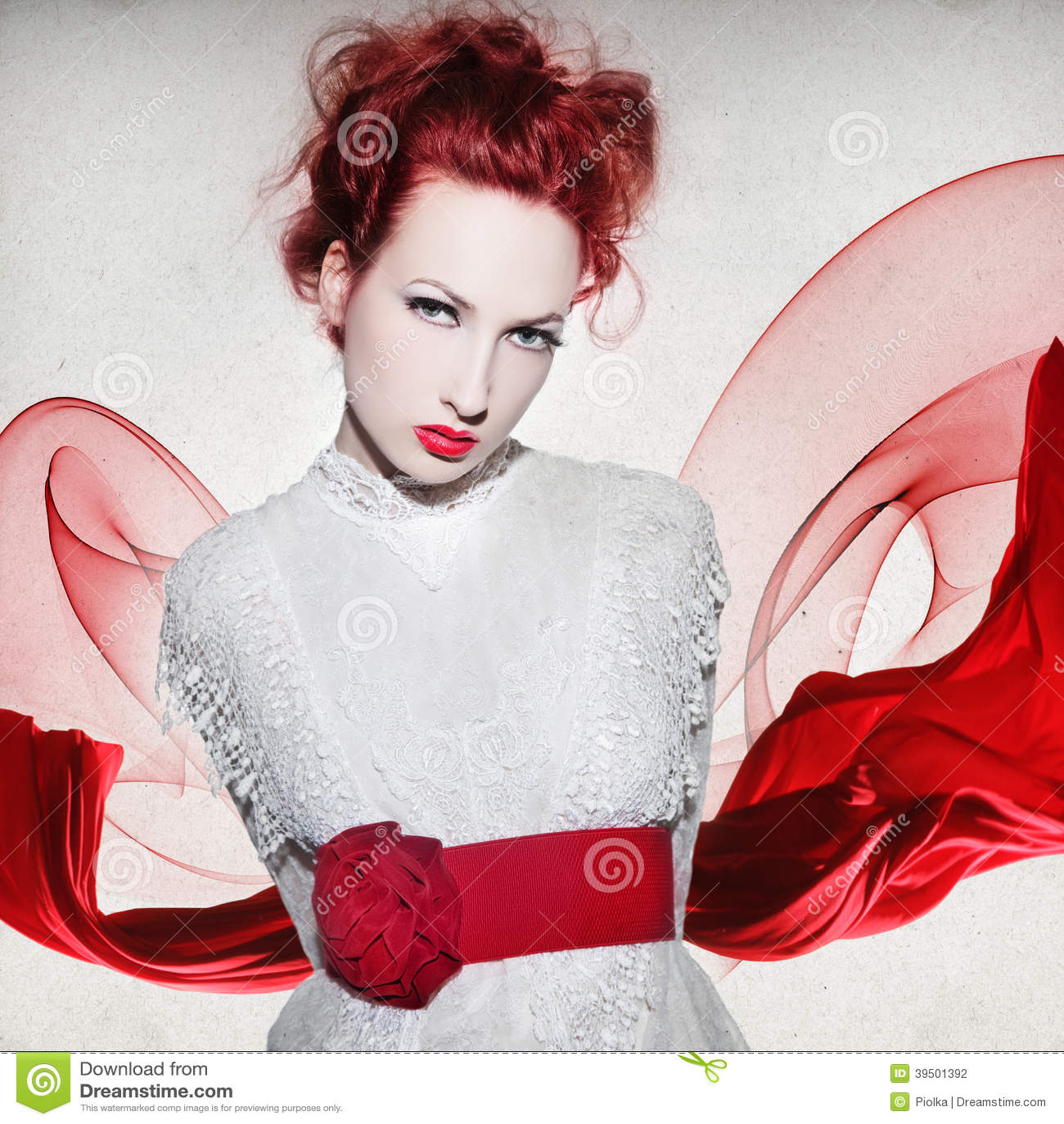 Beautiful young woman design
