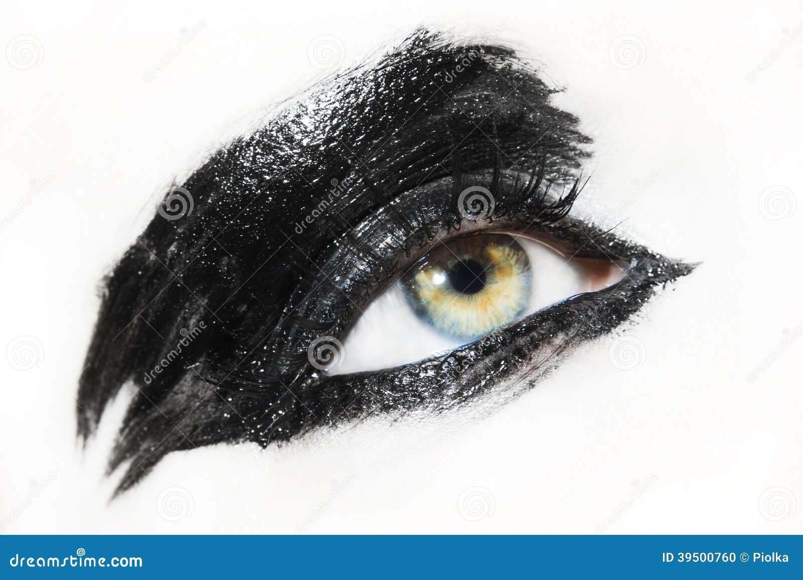 Beautiful young woman eye
