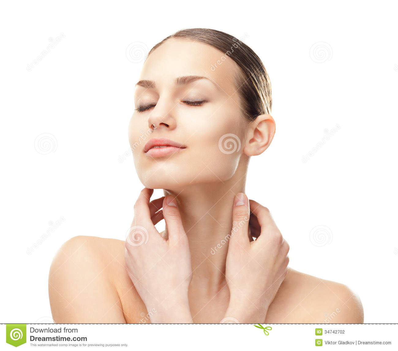 Beautiful Young Woman With Eyes Closed Stock Photography ...