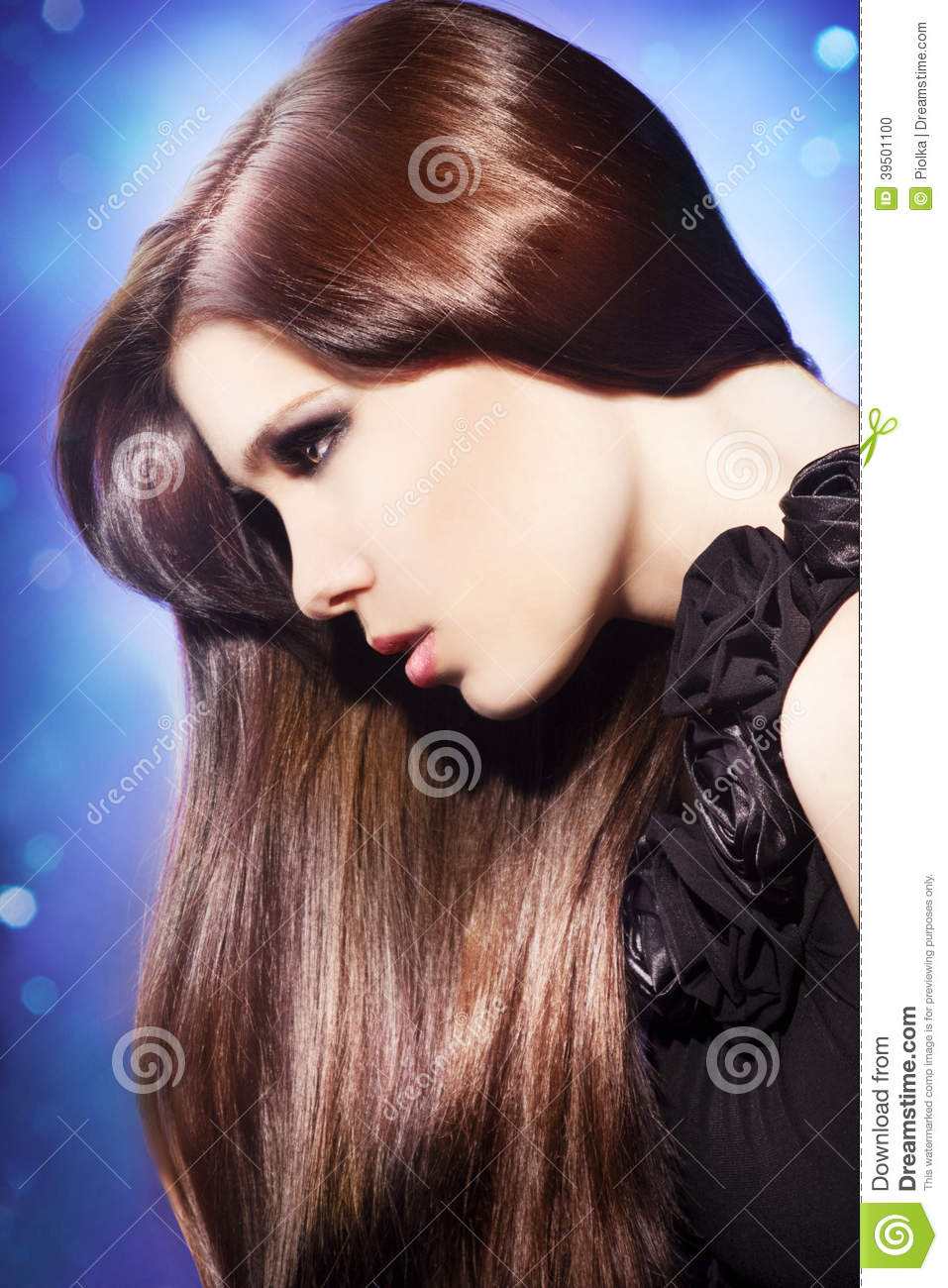 Beautiful young woman face
