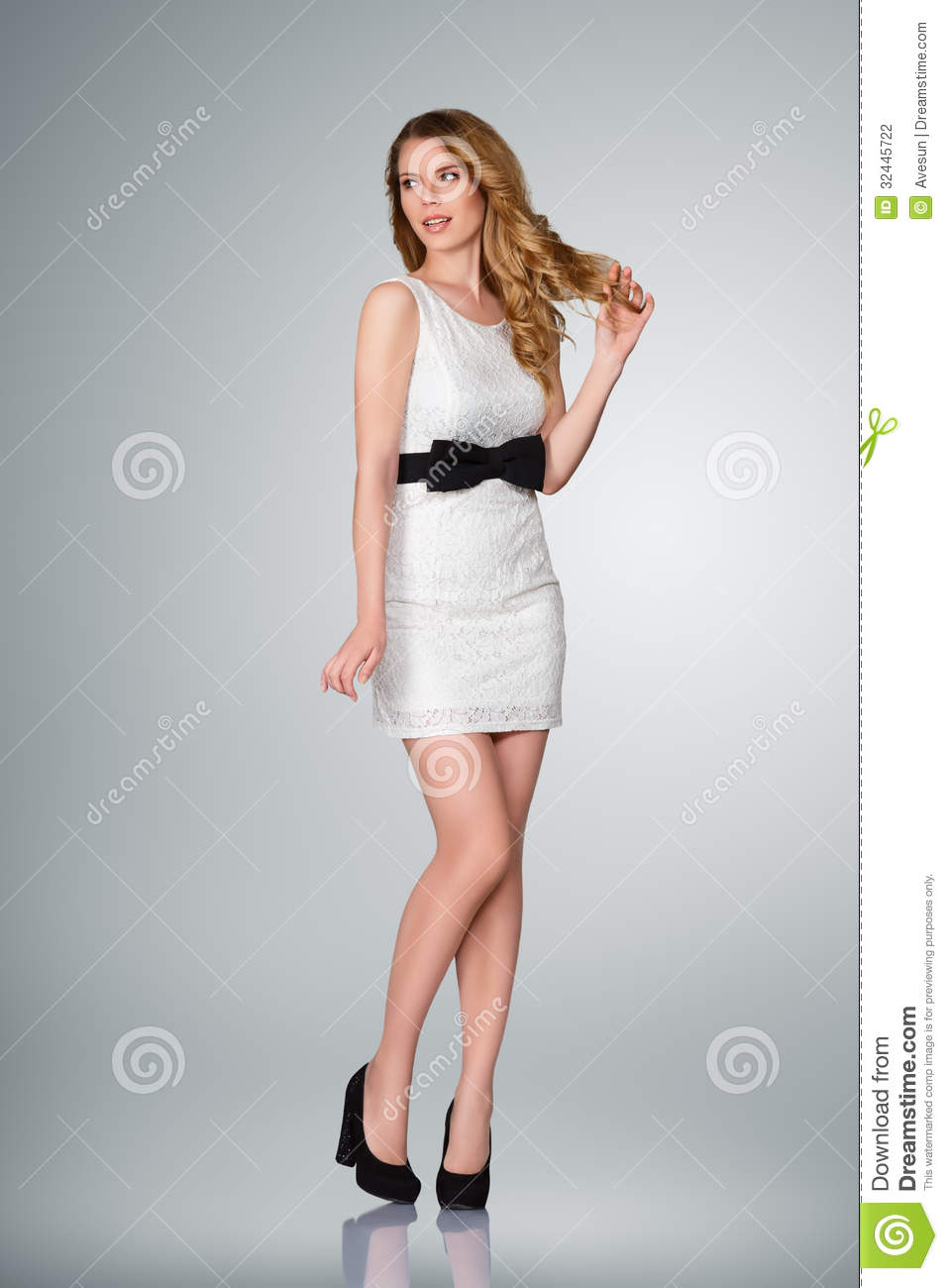 Beautiful Young Woman Full Body Stock Photography