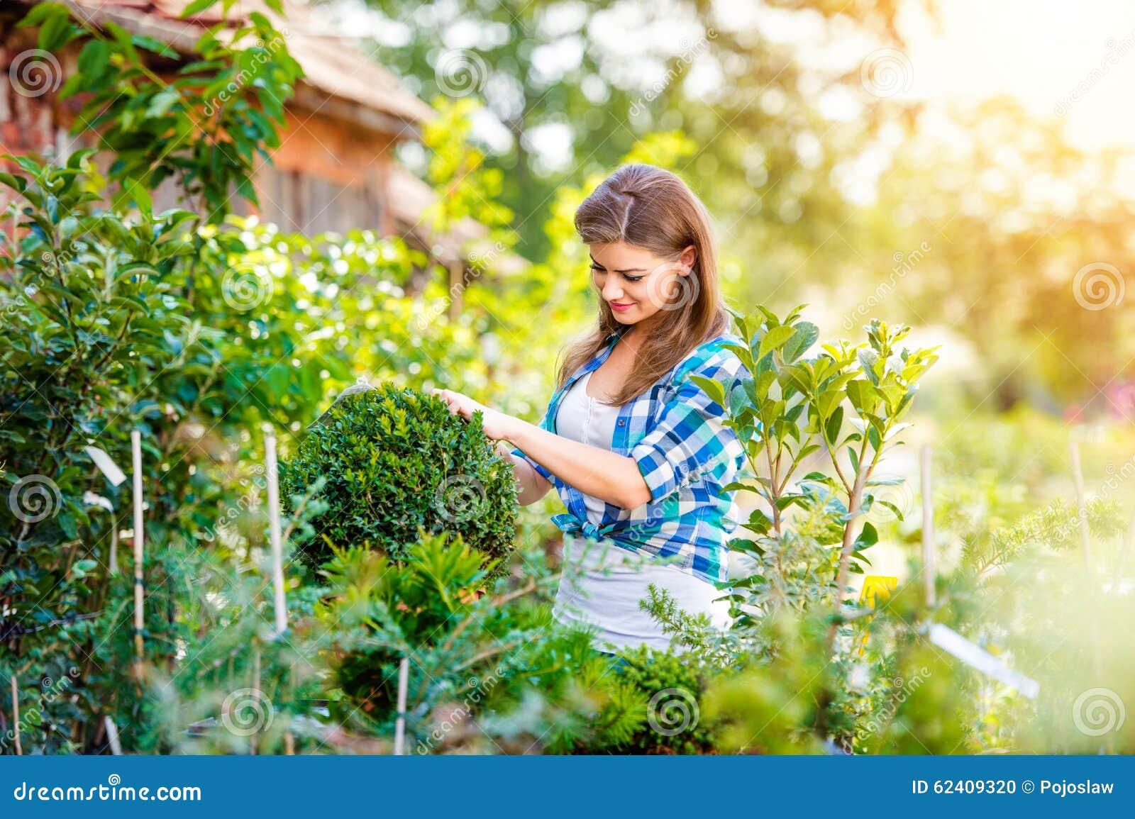 Beautiful Young Woman Gardening Stock Photo Image 62409320