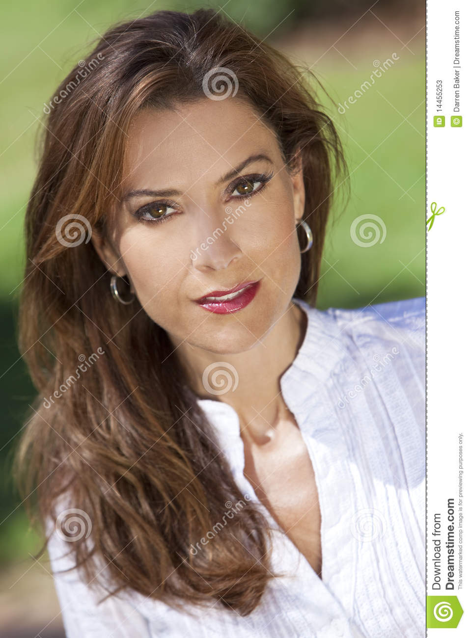 Beautiful Young Woman In Her Thirties Outside