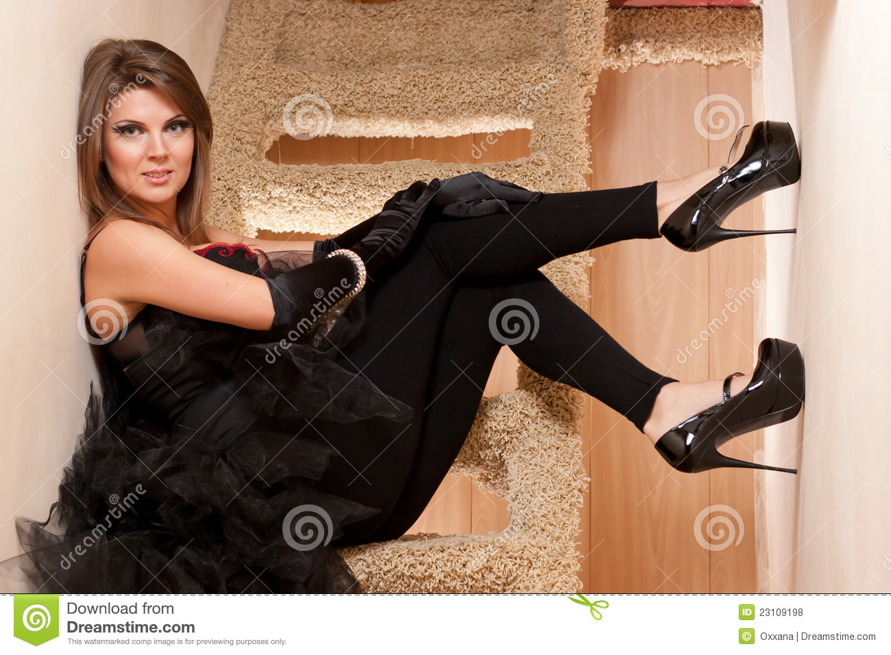Beautiful Young Woman In High Heels Shoes Stock Photo - Image Of Lifestyles, Stylish -4886