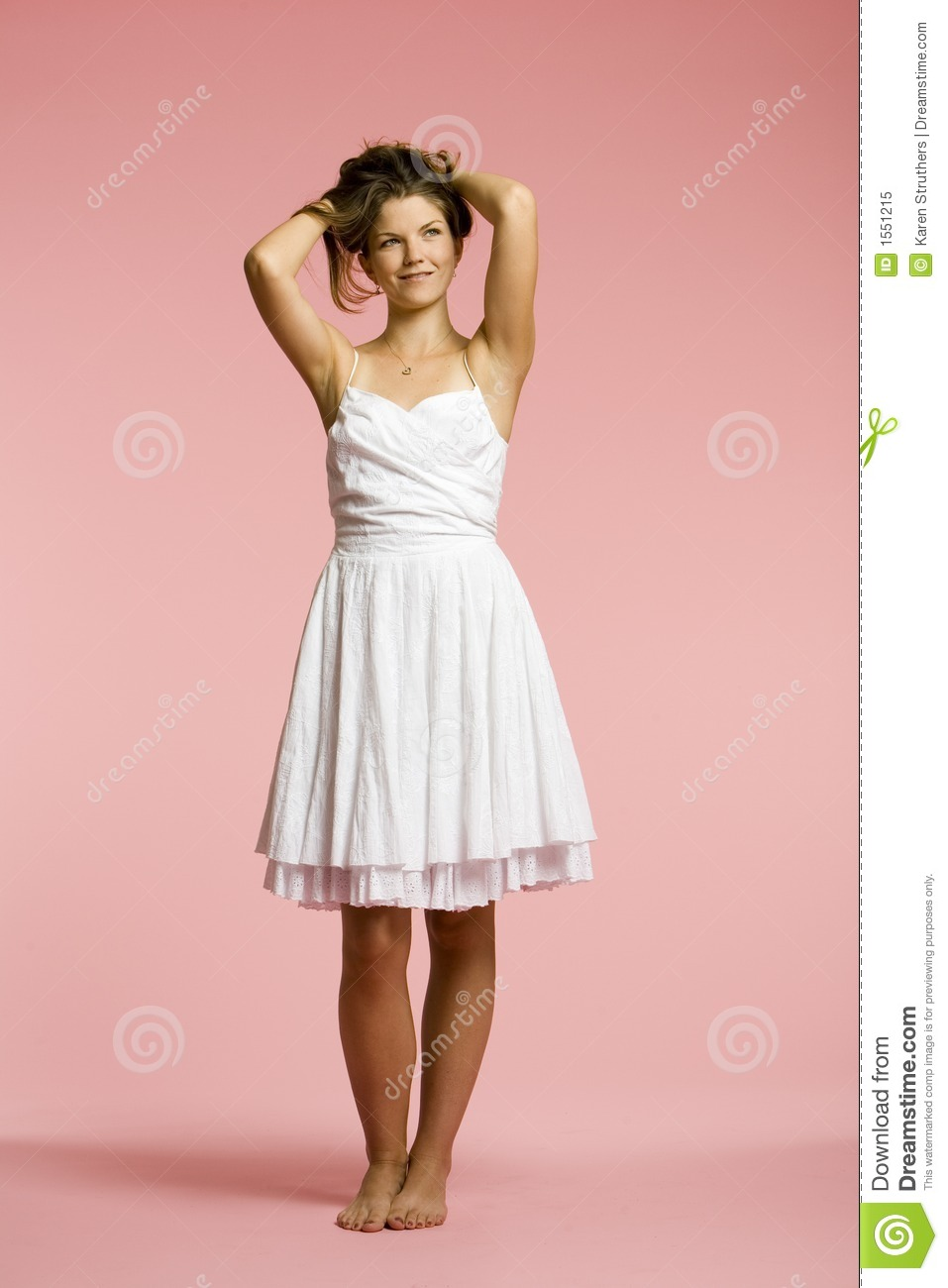 74aaa92cd Beautiful Young Woman Lifting Her Hair Stock Image - Image of dance ...