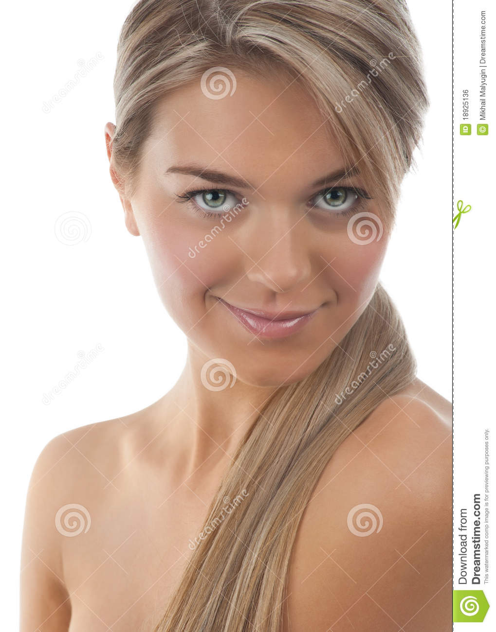 Beautiful Young Woman With Long Blond Hair Stock Photo Image Of