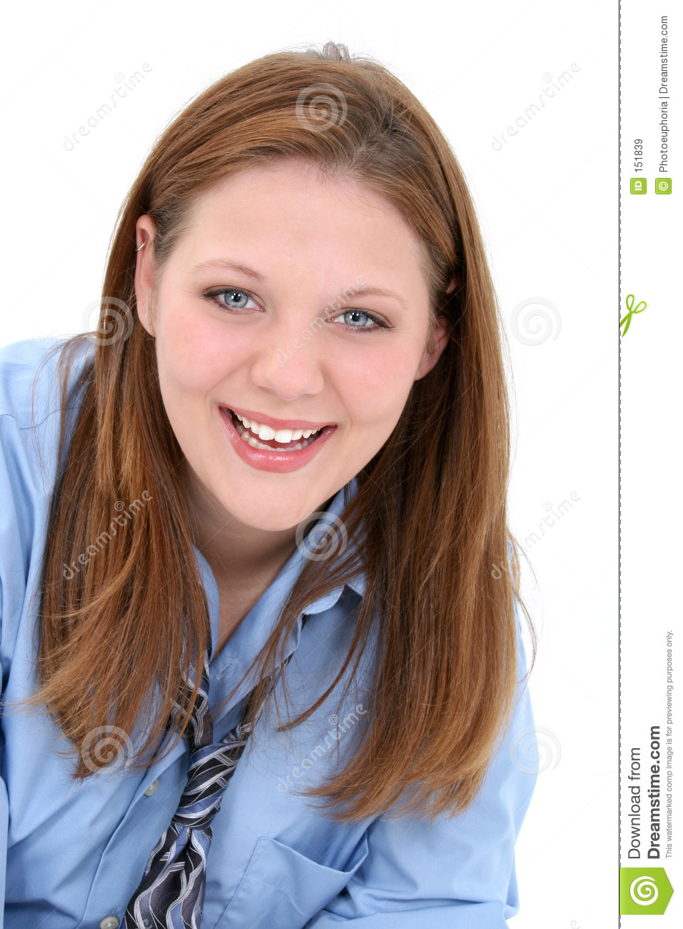 Beautiful Young Woman In Man s Shirt And Tie