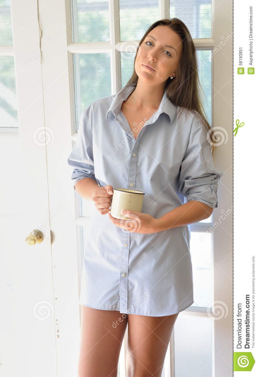 Luxury Young Woman Wearing Shirt Royalty Free Stock Photo  Image 18845235
