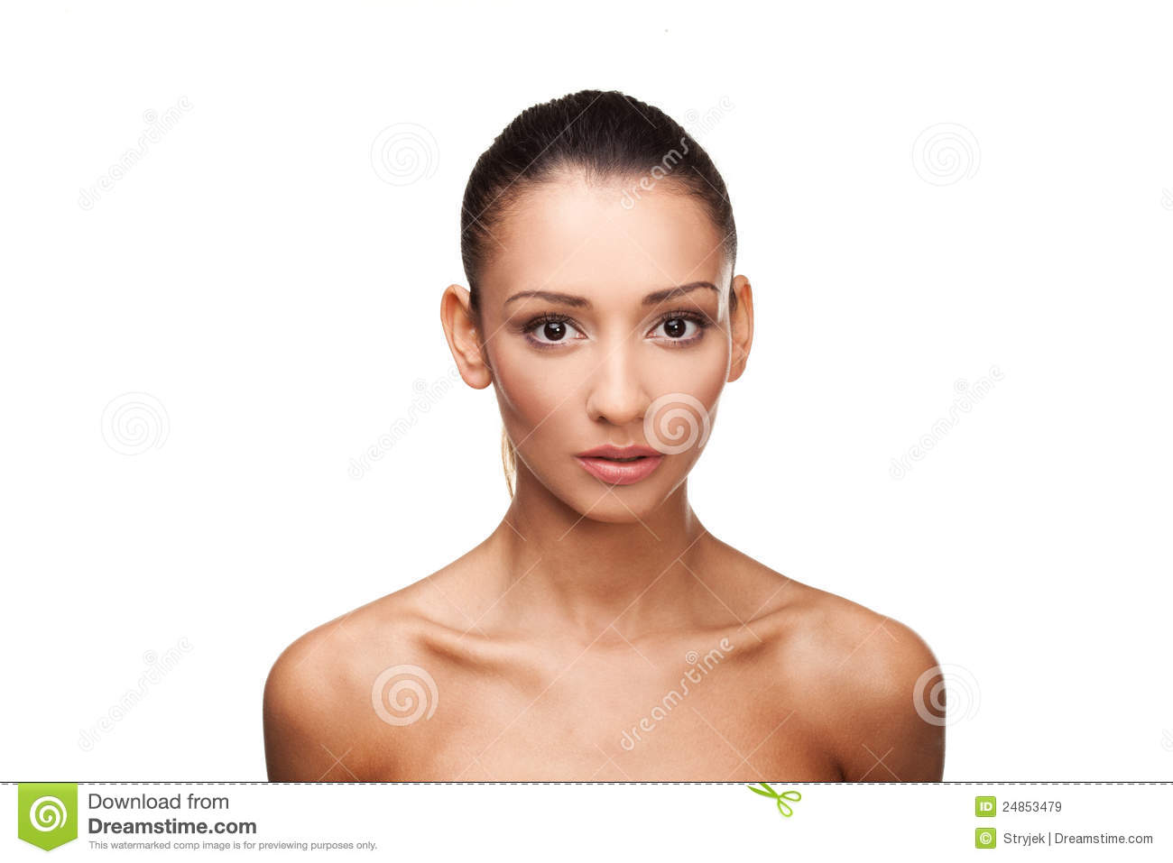 Beautiful Wet Naked Young Woman Ice Stock Photo (Edit Now