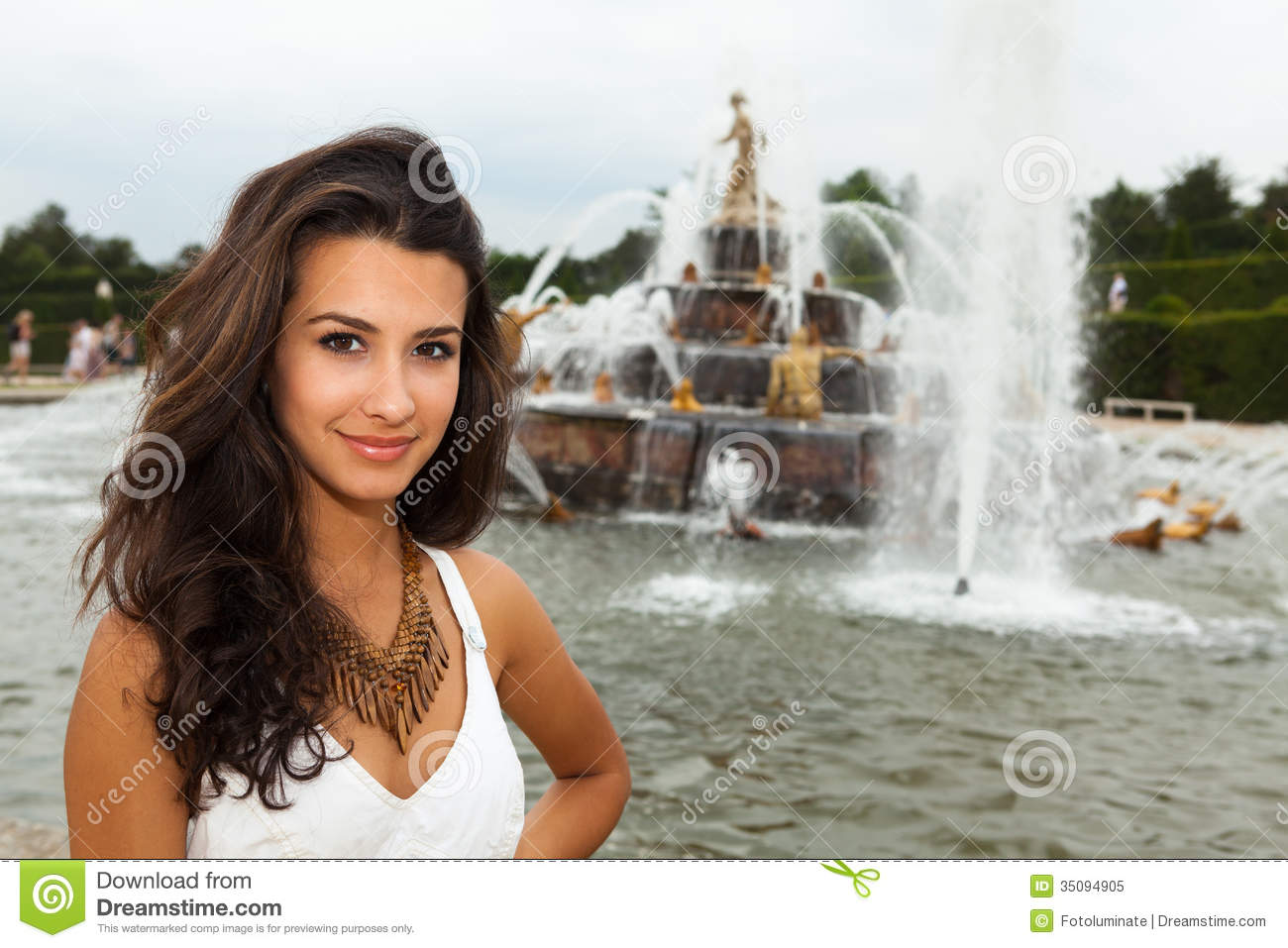Beautiful Young Woman In Paris Stock Image - Image: 35094905